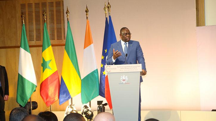 Le discours de Macky SALL au Forum franco-africain pour une croissance partagée.