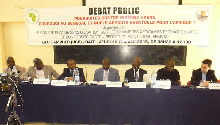 L'Université Gaston Berger a abrité un débat public sur les poursuites contre Hissène HABRE sur le thème : « Pourquoi au Sénégal et quels  apports éventuels pour l'Afrique ? ».