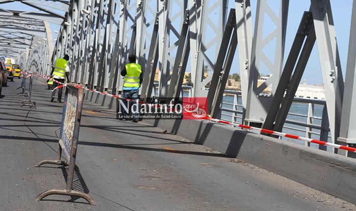 IMAGES : le Pont Faidherbe gravement endommagé par les Camions frigo.
