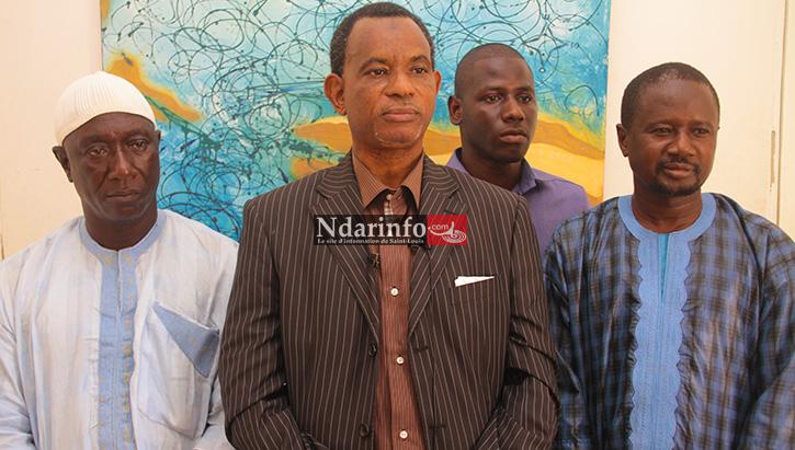 Le maire de GANDIOL Arona SOW et son équipe.
