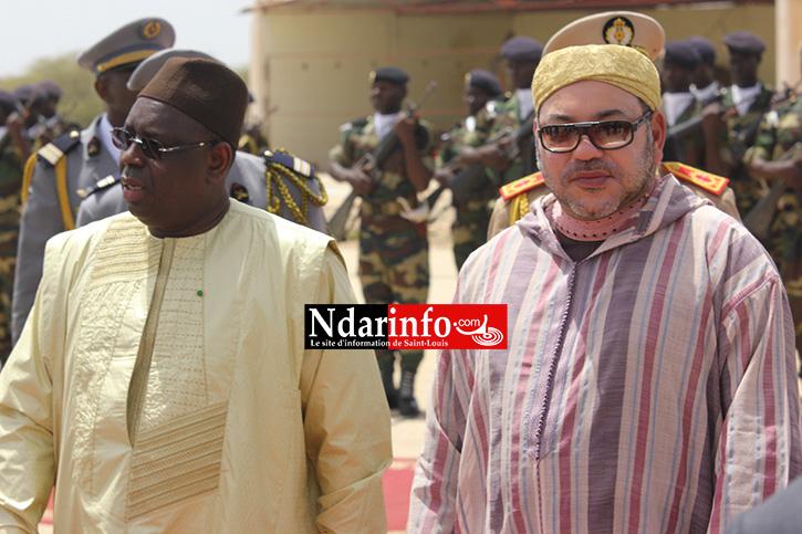 PHOTOS - MACKY SALL et le Roi Mouhamed VI à Saint-Louis.