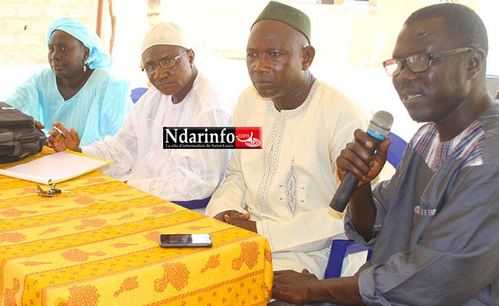 De la Gauche à la doite: Khady WADE, Abdoulaye Djiby SAMBOU, Babacar DIOP et un Notable de Ngallèle