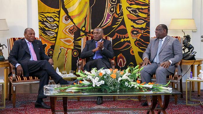 Macky Sall et Alpha Condé rencontrent à Dakar le Président Bissau-guinéen