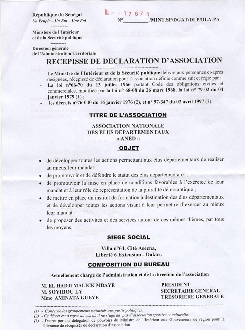 L'association des élus départementaux officiellement reconnue : trois saint-louisiens dans le dispositif.