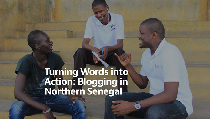Turning Words into Action: Blogging in Northern Senegal