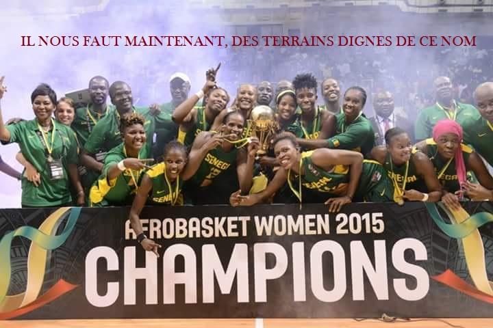 Et voilà le 11eme titre continental des lionnes de Basket, le Sénégal une nation d'sport, sans terrain d'sport !