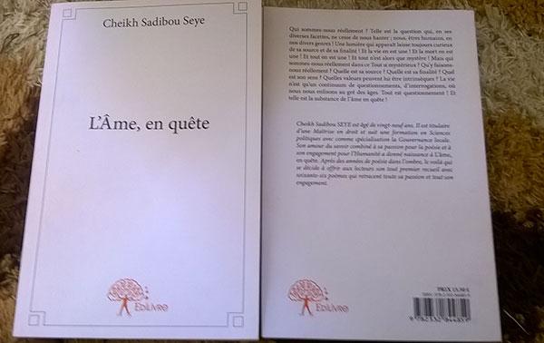 LITTÉRATURE : « L'âme, en quête », premier recueil de poèmes de Cheikh Sadibou SEYE.