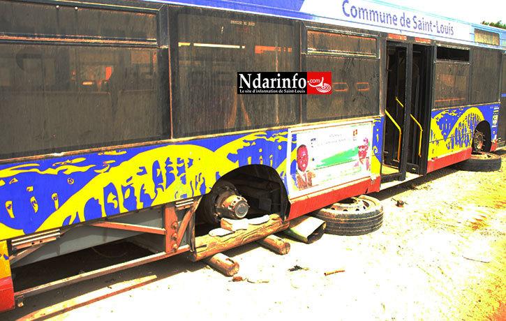 Le sort d'un des bus offerts par la ville de Toulouse.
