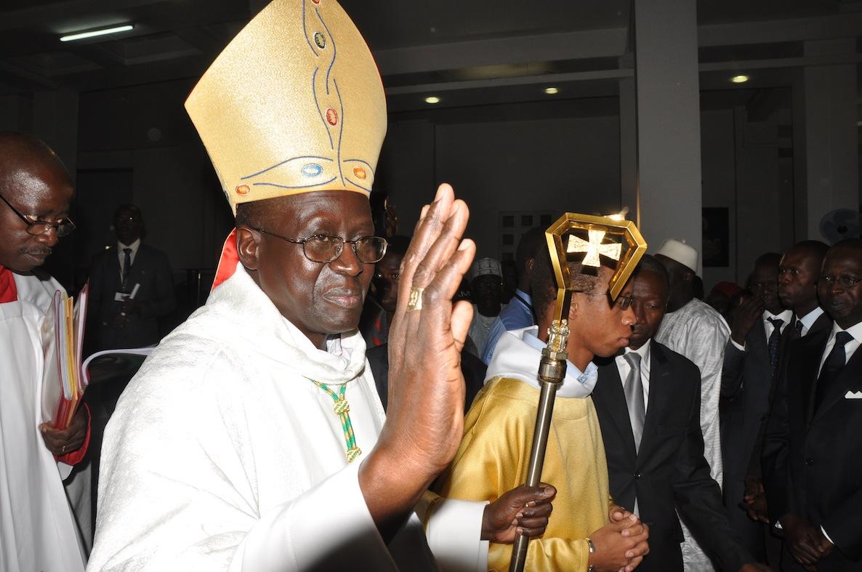 A l'intronisation de Mgr Benjamin Ndiaye.