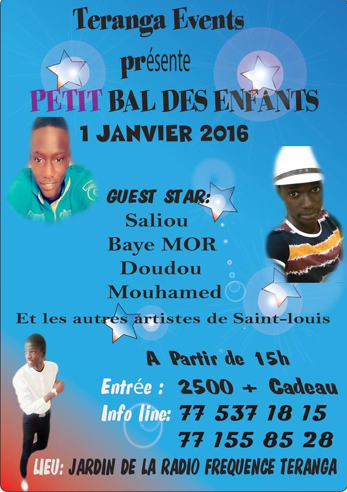 Saint-Louis : le grand bal des enfants, ce 1er janvier 2016, au Jardin de la Teranga FM.