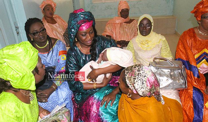 Mme FAYE, dans le Poste de danté de Ngalèle, à la journée mondiale de la Femme