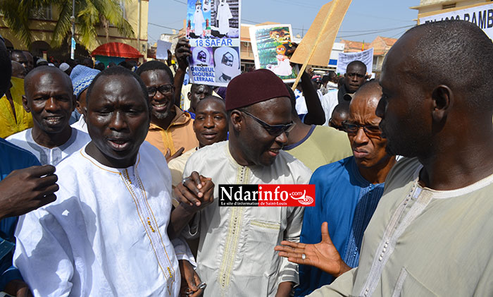 Cheikh Bamba DIEYE, sur la Place Faidherbe, vendredi. Crédit Photo: Ndarinfo.com