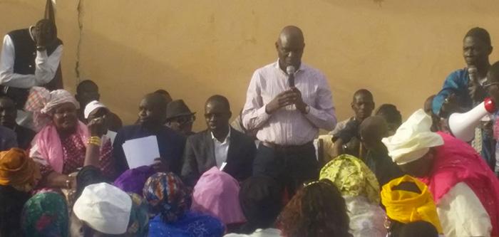 Au cours de l'AG au siège de l'APPR, à Ndioloffène.