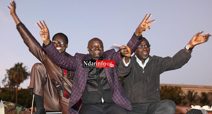 Me Alioune Abatalibe GUEYE, Ahmet FALL Baraya et le Docteur Abdoulaye NDOYE
