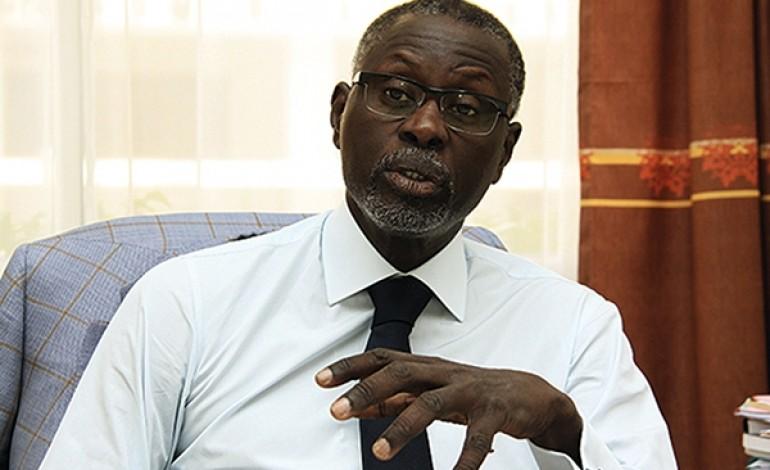 """Mansour Kama, président du CNES: """" on pense que le développement du pays passe entre les mains des entreprises étrangères""""."""