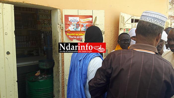 Stupéfaction ce matin de ressortissants mauritaniens venus constater le vol