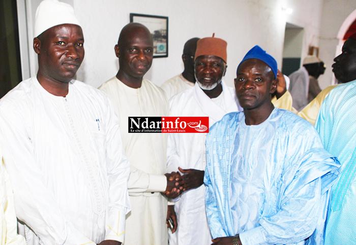 De la droite à la gauche: Imam Cheikh Tidjane FALL, Imam Baba LY, le Maire et le Conseiller Economique et social Mbaye NDIAYE