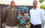 De gauche à droite: Ibrahima Sory SARR, Mme Dior DIAGNE et Idriss BENJELOUNE