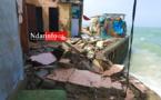 Furie marine à Santhiaba : des maisons détruites, une population déboussolée, des appels à l'aide… Regardez !