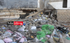 GUET-NDAR : les vagues creusent les fondements de l'école Cheikh TOURE. La mosquée «  DOUCOURE » fermée.