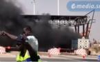 Incendie sur l'autoroute à péage MBOUR - DAKAR
