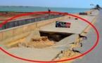 Arrêt sur images: Danger sur l'île Sud, un grand trou coupe la chaussée.