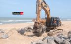 """Protection côtière de Saint-Louis : """"les travaux avancent très bien"""" (vidéo)"""