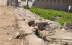 Danger au lycée Charles De Gaulle de Saint-Louis: Une grande partie du mur de protection de l'école s'est affaissée.