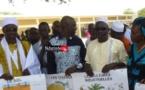 De gauche à droite: Mme Mame Penda DIOUF, représentante de la famille, le Principal du Cem, Mansour FAYE et Zeynou Abidine DIOP