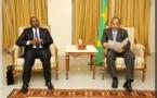 AUDIENCE AVEC LE PRESIDENT MAURITANIEN: le ministre Oumar GUEYE évoque les activités des pêcheurs de Saint-Louis.