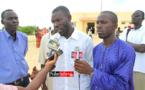 Des membres du Collectif face à la presse, devant l'hotel de ville de Ndiébène Gandiol