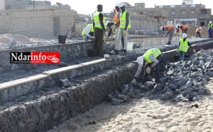 LANGUE DE BARBARIE : démarrage des travaux de la digue de protection côtière (Vidéo & Photos)