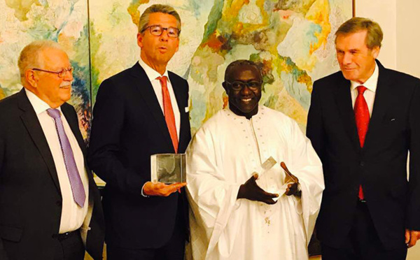 Le Sénégal distingué en Allemague : le Prix Walter Scheel remis à Amadou DIAW (photos)