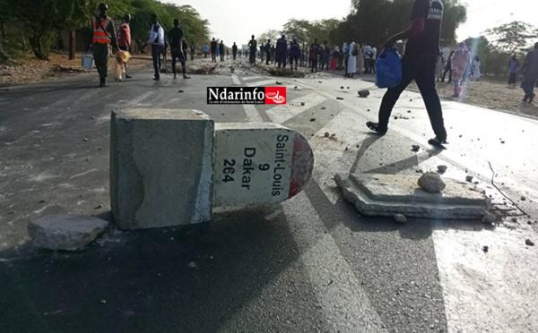 Tension matinale à l'UGB : la RN2 toujours bloquée (photos)