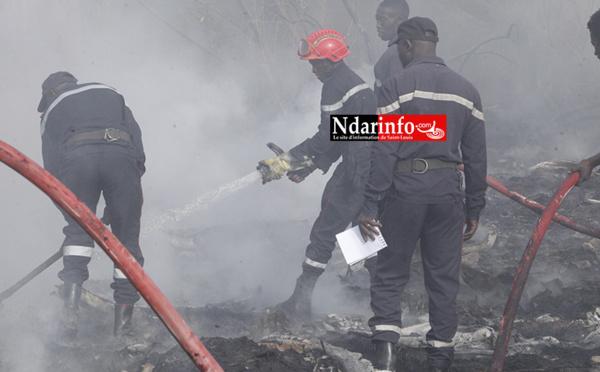 Incendie au marché NDAR : l'intervention rapide des sapeurs freine le danger
