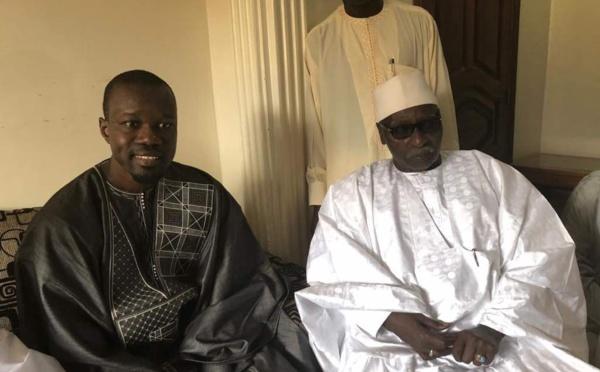 Sonko reçu par Serigne Mbaye Sy Mansour [Photos]