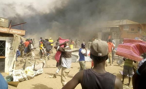 Violent incendie à Ross-Béthio : plusieurs cantines consumées, d'importants dégâts enregistrés