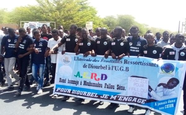 Justice pour Fallou SÈNE : les étudiants ont protesté, ce matin