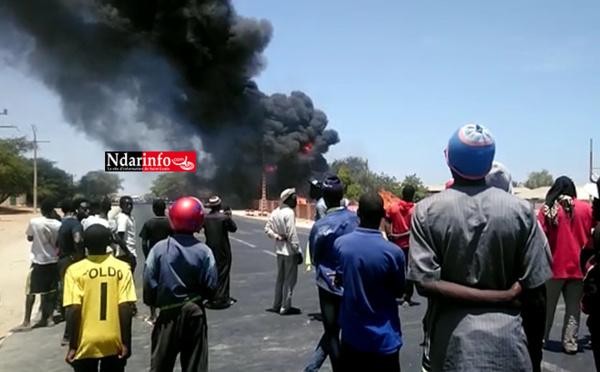 Incendie à la SOCAS: les flammes gagnent de l'ampleur (vidéo)