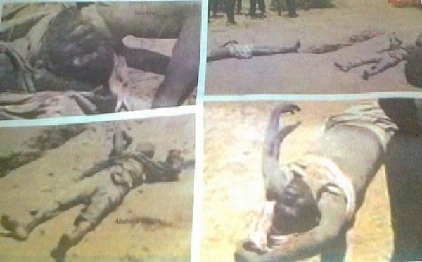 Photos| Les corps déterrés des tueries de Keur Samba Laobé( âmes Sensibles S'abstenir )