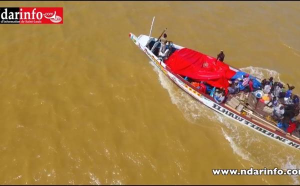 Une pirogue percutée par un bateau au large de Saint-Louis : Les pêcheurs arraisonnent l'embarcation (vidéo)