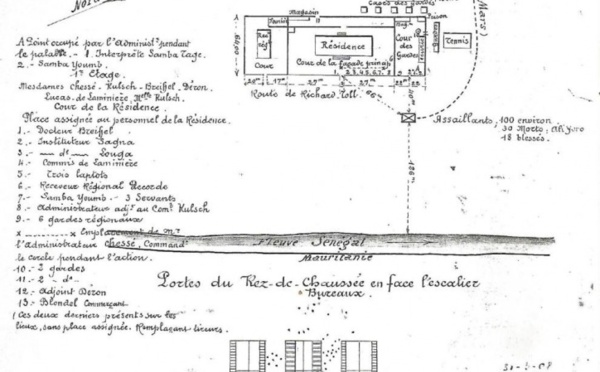 Le 15 mars 1908, le marabout de Fanaye Aly Yoro Diop tué lors de l'attaque de la Préfecture de Daganao