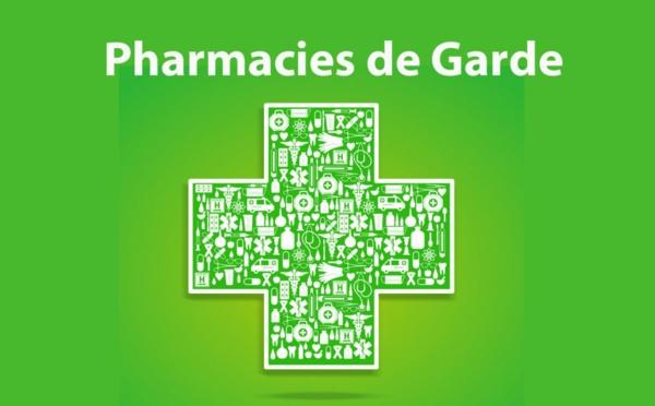 Les Pharmacies de Garde du 23 juillet 2020 au 09 janvier 2021