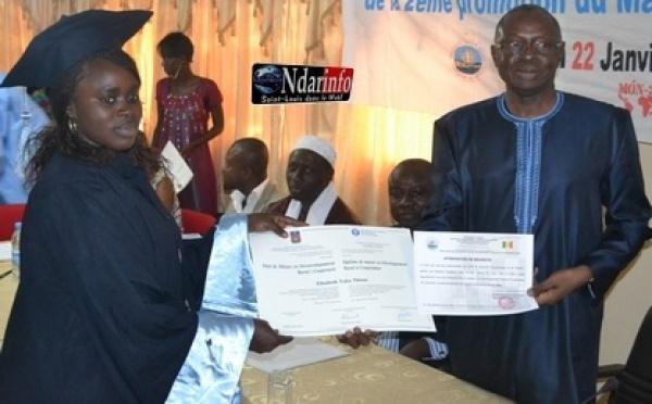 UGB : Remise de diplômes aux étudiants de la 2ème promotion du master développement rural et coopération.
