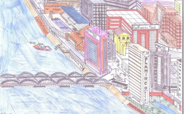 Saint-Louis de demain, dans les rêves d'un dessinateur.