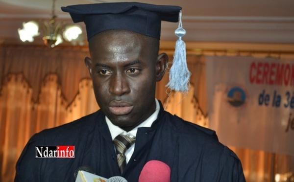 """Abdoulaye Dièye, major de la promotion du Master II DRC: """"l'Université sénégalaise est entrain de s'enliser dans un malaise profond"""""""