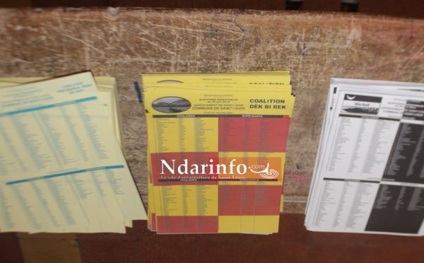 SAINT-LOUIS : Résultats au bureau de vote 6 de  Sor Daga (Pikine)