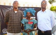De droite à gauche: Ibrahima Sory SARR, Mme Dior DIAGNE et Idriss BENJELOUNE