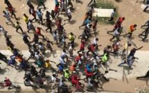 Les étudiants de l'Ucad en colère, le 16 mai 2018. © RFI/Guillaume Thibault