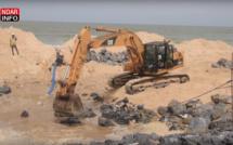 Saint-Louis : La digue de protection côtière réalisée à 53% – vidéo